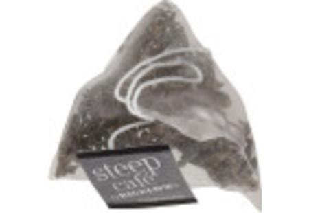 steep cafe by Bigelow organic full leaf chun mee green tea pyramid bag
