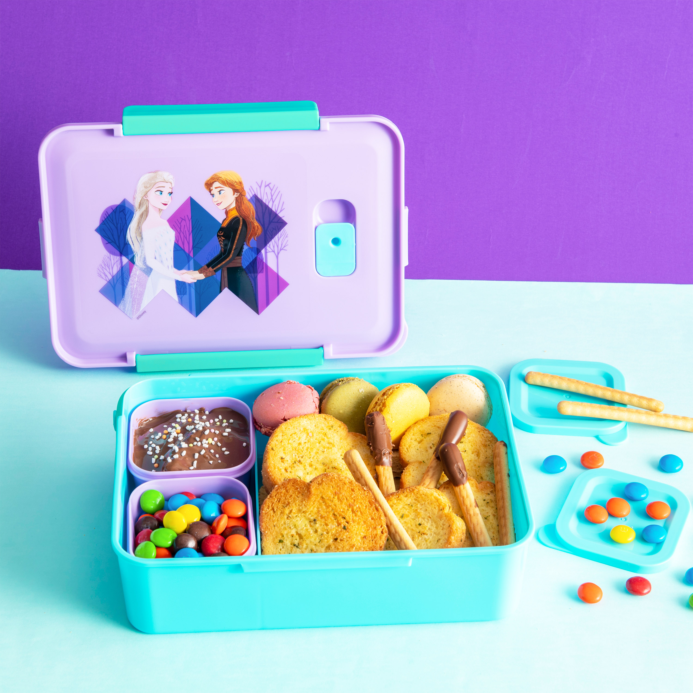 Disney Frozen 2 Movie Reusable Divided Bento Box, Elsa and Anna, 3-piece set slideshow image 8