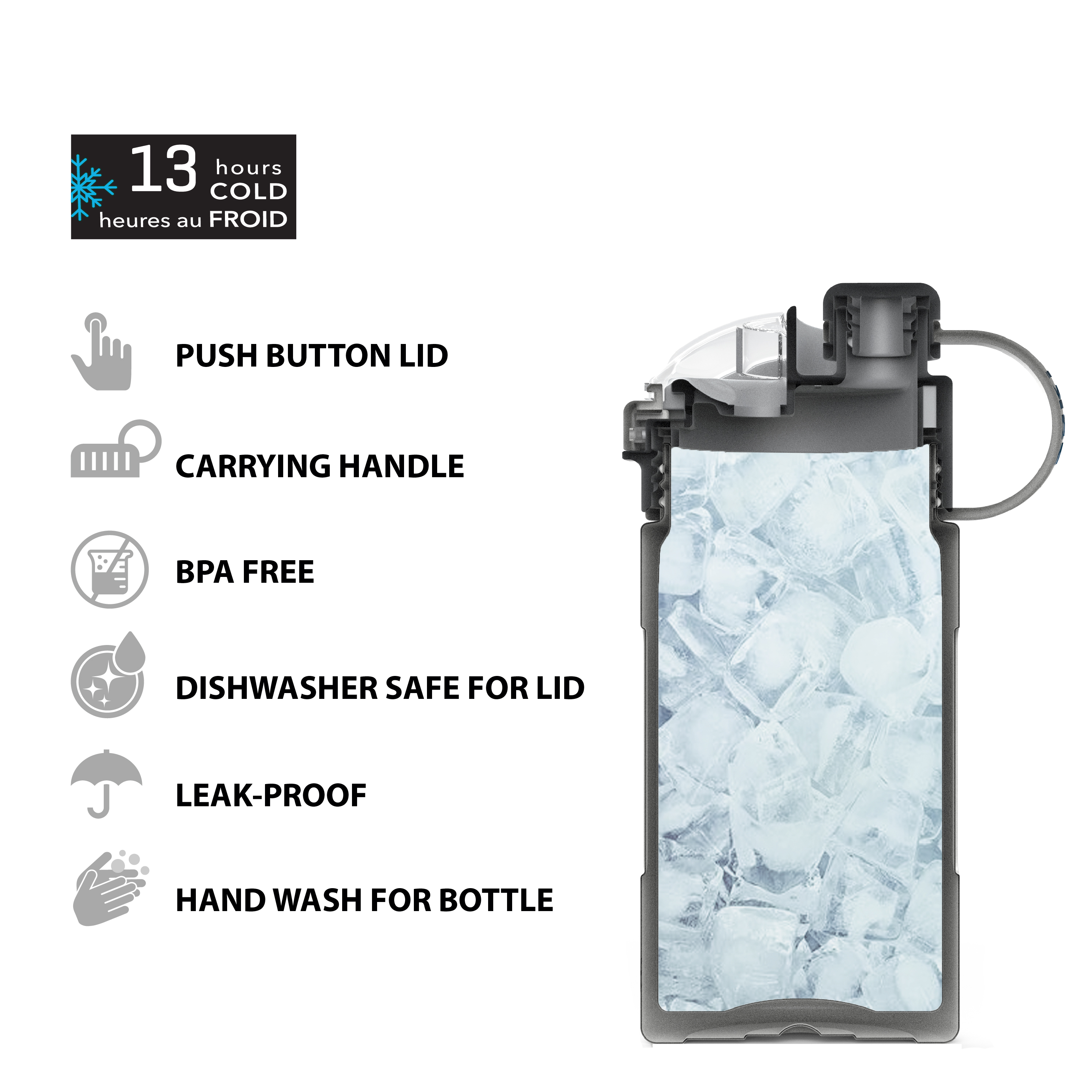 Genesis 12 ounce Vacuum Insulated Stainless Steel Tumbler, Gray slideshow image 10