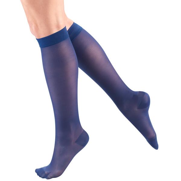 1773 Ladies' Below Knee Closed Toe Violet Sheer Stockings