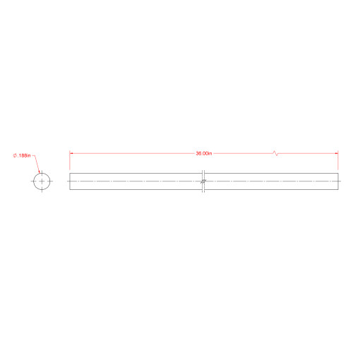 SteelWorks Zinc-Plated Solid Rod (3/16