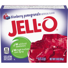 Jell-O Pomegranate Berry Gelatin Dessert 3 oz Box