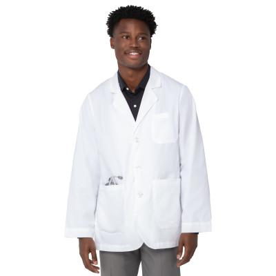 Landau 5 Pocket Lab Coat for Men - Classic Relaxed Fit, 3 Button, Consultation Length 3224-Landau