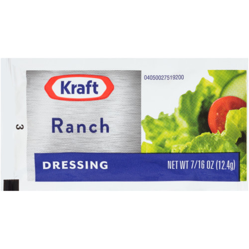 KRAFT Single Serve Ranch Salad Dressing, 0.44 oz. Packets (Pack of 200)