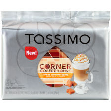 Corner Coffeehouse Sweet Caramel Latte T-Disc for Tassimo Brewing System, 8 count Wrapper