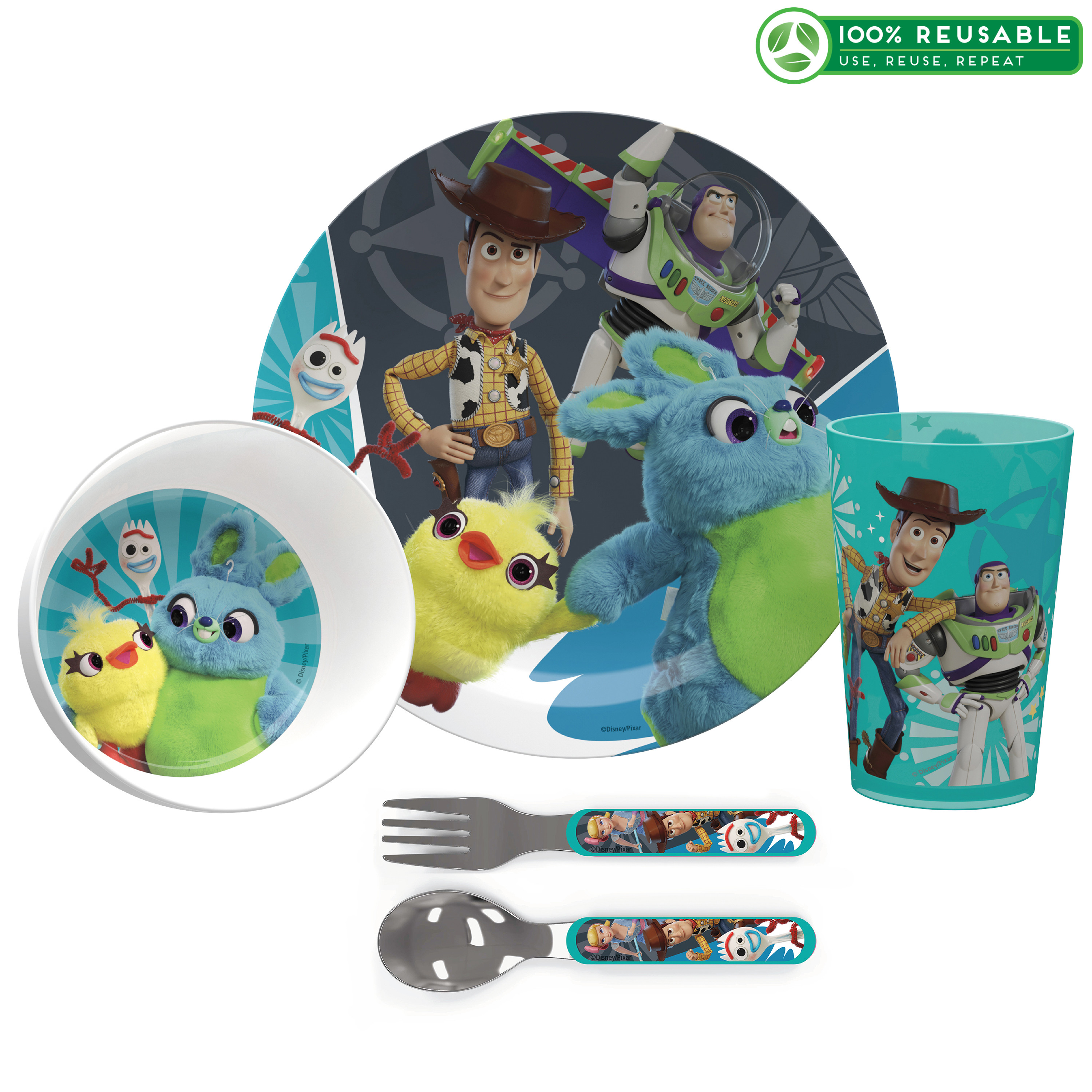 Disney Pixar Dinnerware Set, Woody, Buzz and Friends, 5-piece set slideshow image 1
