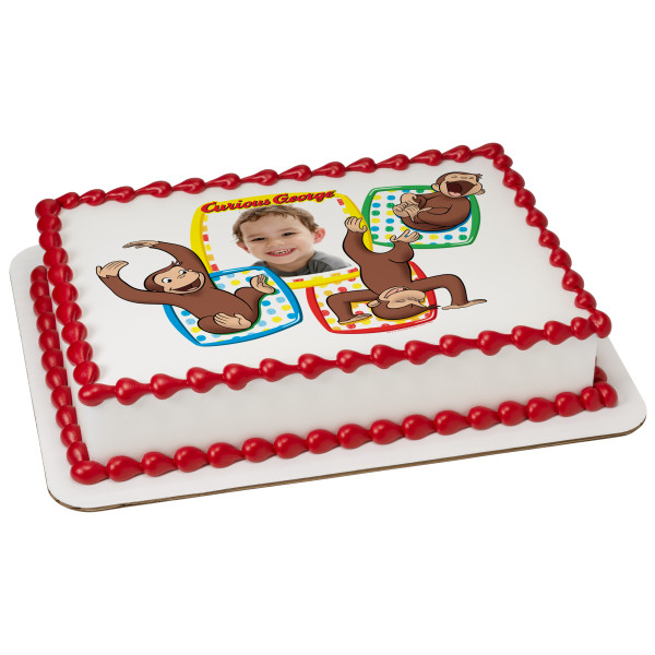 Curious George® Monkeying Around PhotoCake® Edible Image® Frame