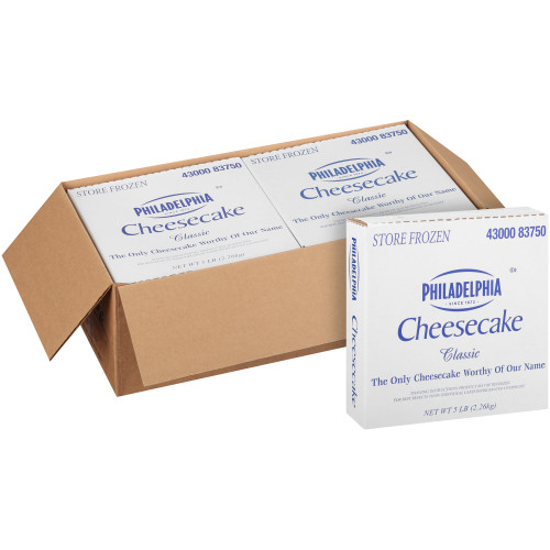 PHILADELPHIA Plain Cheesecake, 80 oz. (Pack of 4)