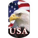 American Eagle Chrome Large Military ID Quick-Tag