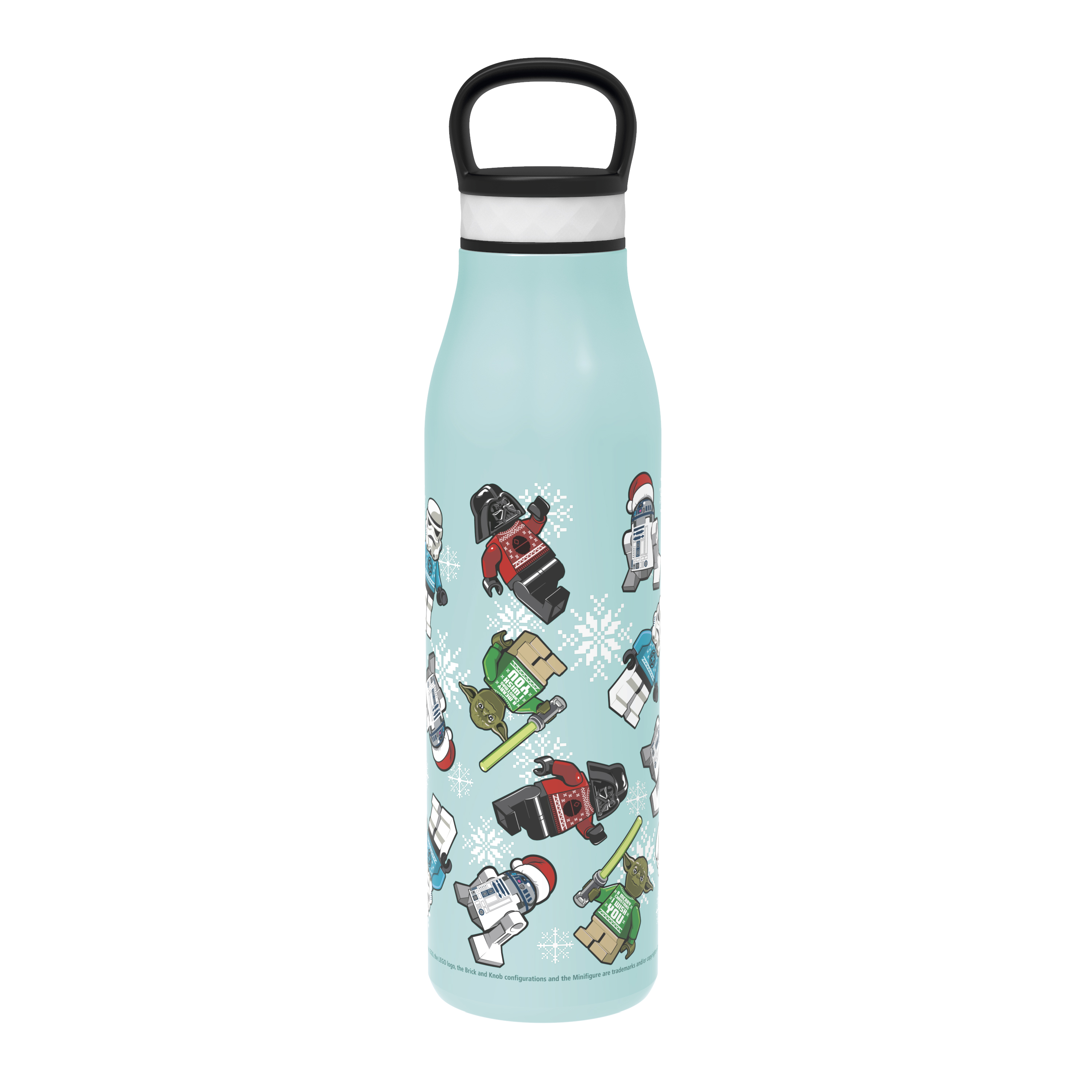 Lego Star Wars 20 ounce Stainless Steel Vacuum Insulated Water Bottle, R2-D2, Yoda and Darth Vader slideshow image 1
