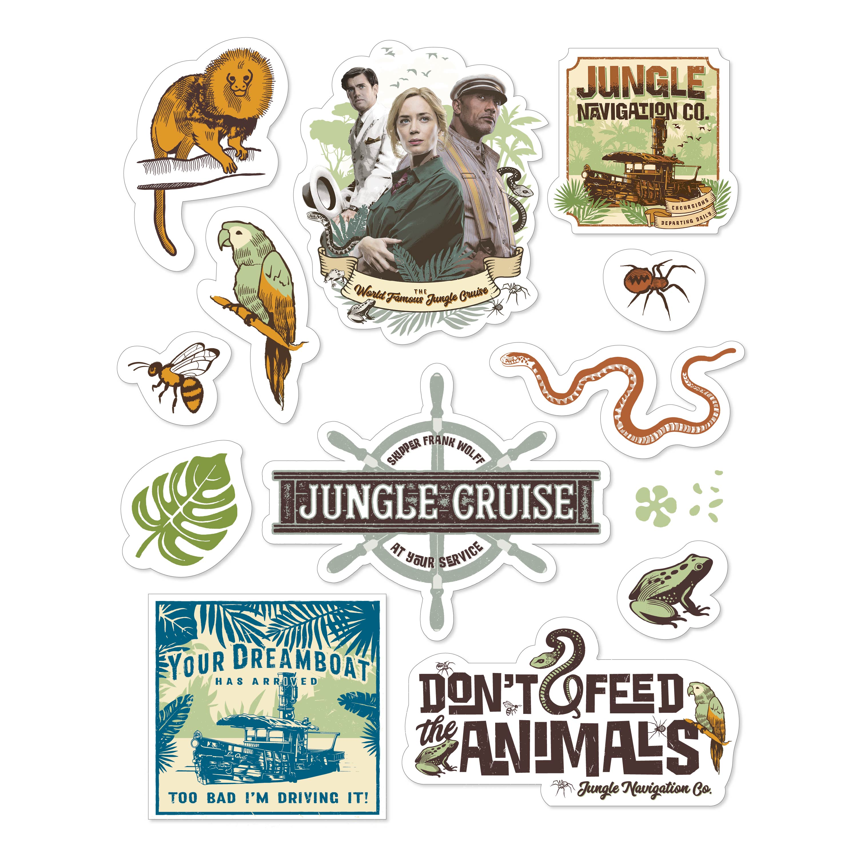 Jungle Cruise 20 ounce Insulated Tumbler with Stickers, Frank and Lily slideshow image 4