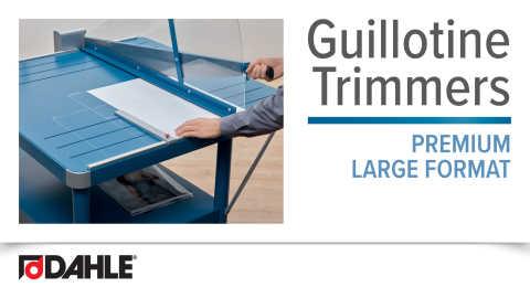 Dahle Premium Large Format Guillotines Video