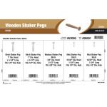 Birch Wooden Shaker Pegs Assortment