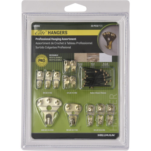 Hillman Elite Picture Hanging Assortment 32 Piece