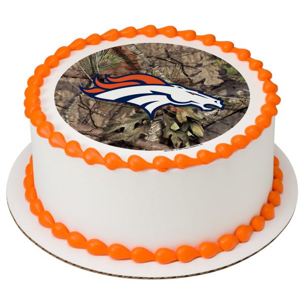 NFL Denver Broncos Mossy Oak® PhotoCake® Edible Image®