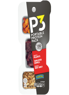 PLANTERS P3 Chipotle Peanuts, Original Beef Jerky, Sunflower Kernels 1.8 oz Tray
