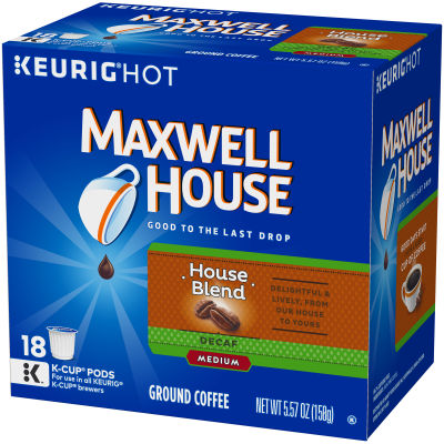 Maxwell House Decaf House Blend Coffee K-Cup Pods 5.57 oz Box