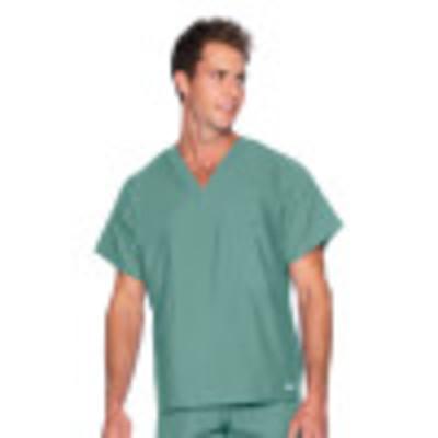 Landau Essentials V-Neck Scrub Top : 1 Pocket, Reversible, Unisex, Classic Relaxed Fit Medical Scrubs 7502-
