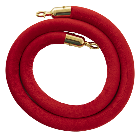 US Weight Accessory Rope - Red with Brass Belt Ends 1