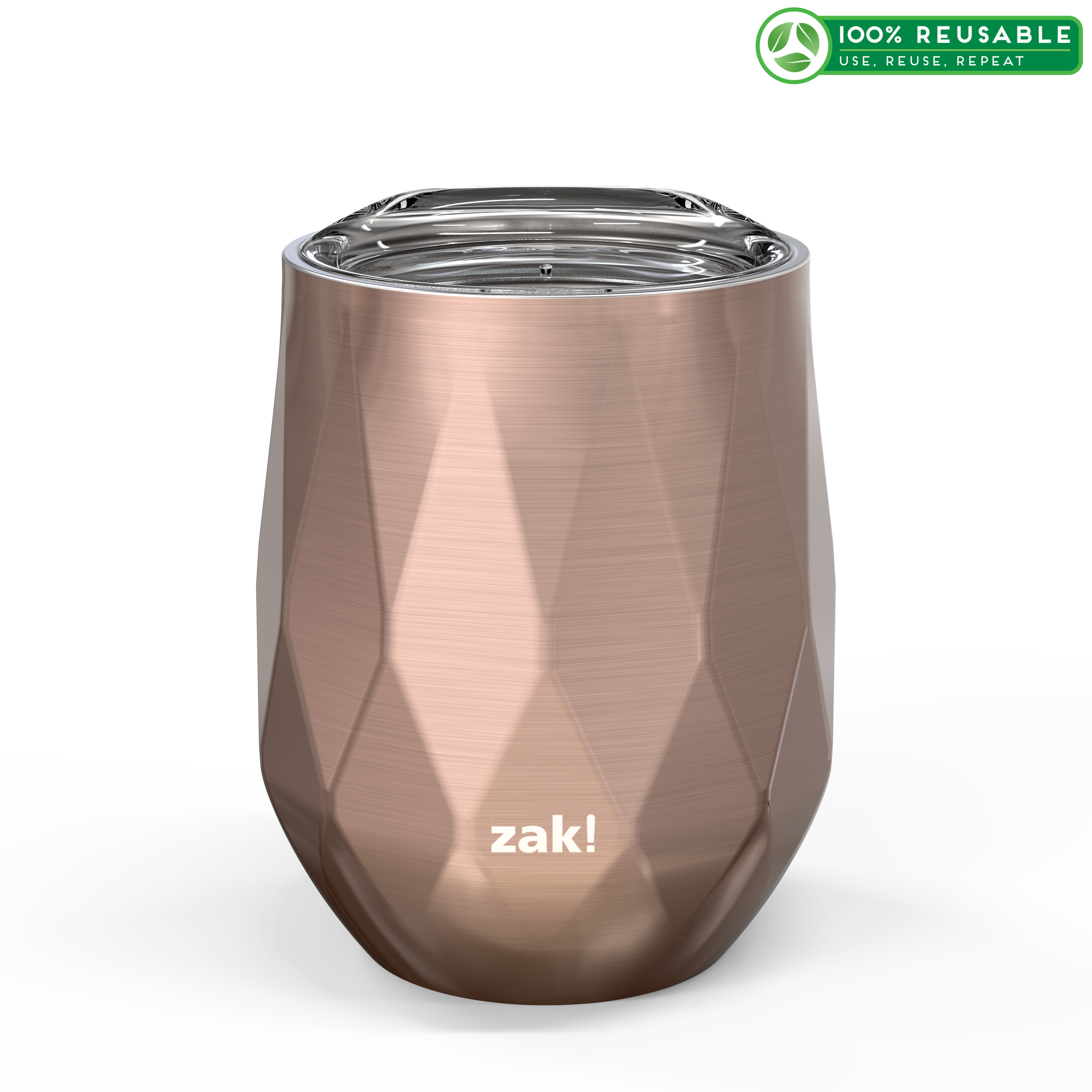 Fractal 11 ounce Vacuum Insulated Stainless Steel Tumbler, Rose Gold slideshow image 1