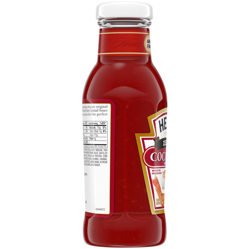 Heinz Zesty Cocktail Sauce, 12 oz Bottle