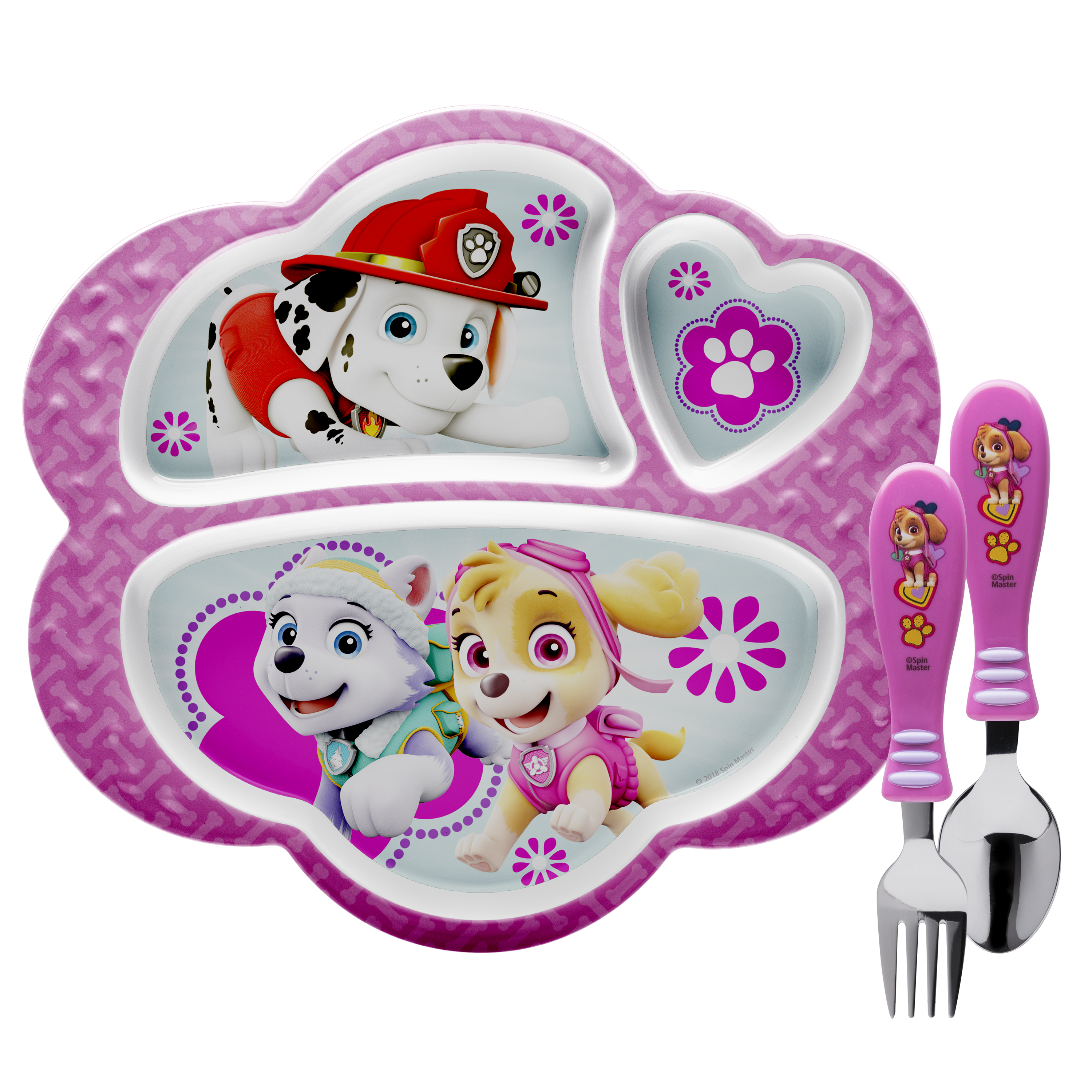 Paw Patrol Kid's Dinnerware Set, Skye, Everest and Marshall, 3-piece set slideshow image 1