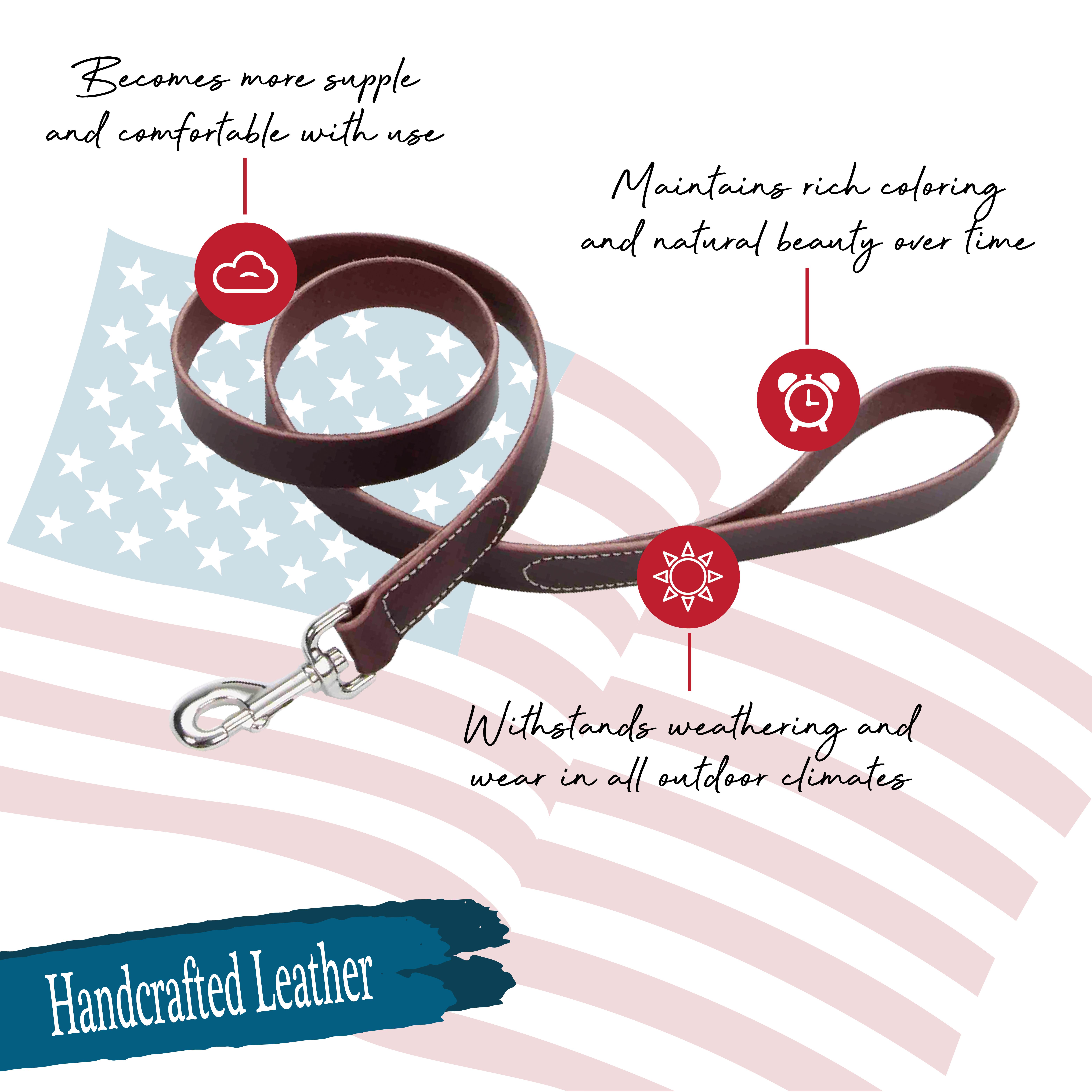 Circle T® Latigo Leather Dog Leash