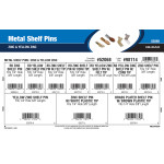 Metal Shelf Pins Assortment (Zinc & Yellow Zinc)