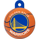 Golden State Warriors Large Circle ID Spot Tag