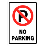 "No Parking Sign (18"" x 12"")"