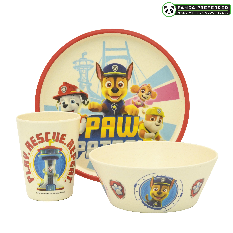 Paw Patrol Kids 3-piece Dinnerware Set, Chase, Marshall & Friends, 3-piece set slideshow image 1