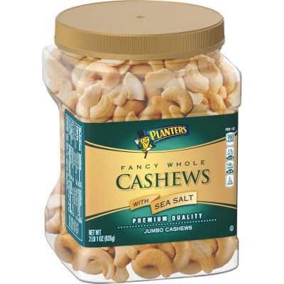 Planters Fancy Whole Cashews With Sea Salt, 33 oz Jar