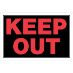 "Keep Out Sign (8"" x 12"")"