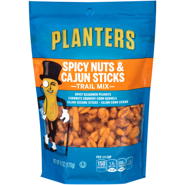 PLANTERS Trail Mix Spicy Nuts & Cajun Sticks  6 oz Bag image