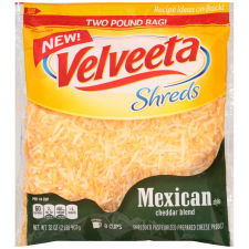 Velveeta Shreds Mexican Style Cheddar Blend 32 oz Bag
