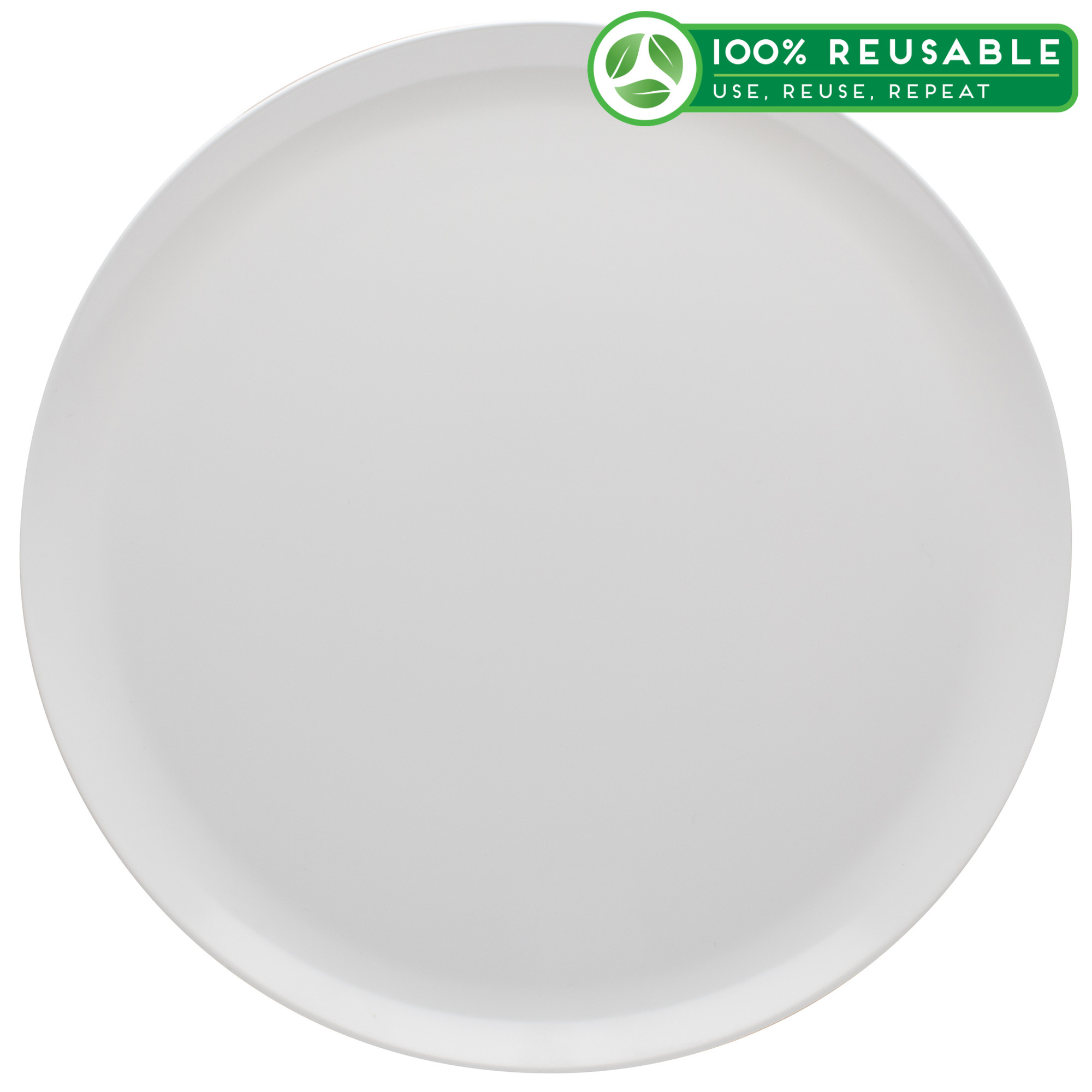 Everyday Melamine Plate, White, 2-piece set slideshow image 1
