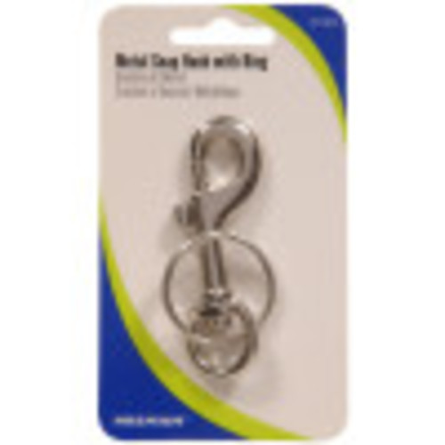Hillman Metal Snap Hook With Key Ring