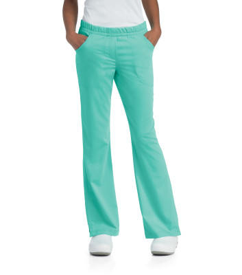 Urbane Ultimate Flare Leg Scrub Pants for Women: 2 Pocket, Modern Tailored Fit, Soft Stretch, Elastic Waist, Medical Scrubs 9306-