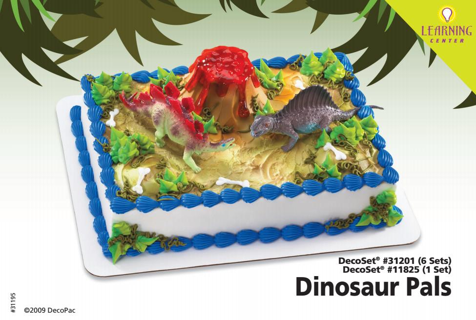 Dinosaur Pals Cake Decorating Instruction Card Decopac