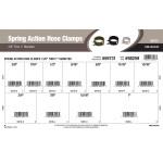 """Spring Action Hose Clamps Assortment (3/8"""" thru 1"""" Dia.)"""