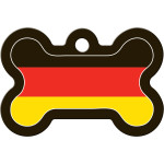 German Flag Large Bone Quick-Tag