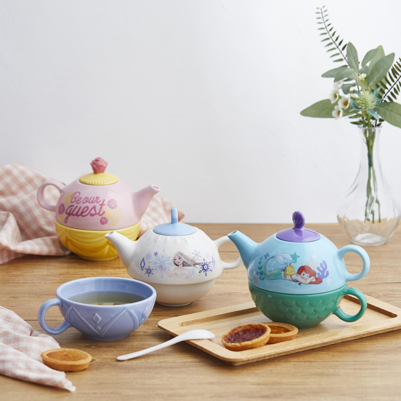 Disney Frozen 2 Movie Sculpted Ceramic Tea Set, Princess Elsa, 4-piece set slideshow image 8