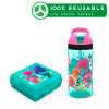 Trolls Movie Kid's Water Bottle and Sandwich Container Lunch Set, Poppy and Friends, 2-piece set slideshow image 1