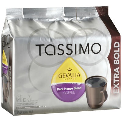 Gevalia House Blend Ground Coffee T-Disc for Tassimo Brewing System, 12 count
