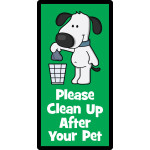 "Please Clean Up After Your Dog Sign (5"" x 10"")"