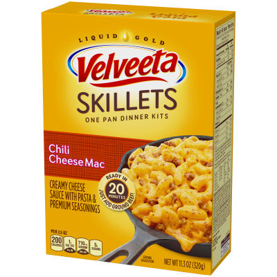 Velveeta Cheesy Skillets Chili Cheese Mac Dinner Kit 11.3 oz Box