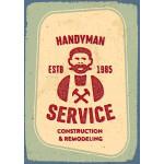"Aluminum Handyman Service Sign 10"" x 14"""