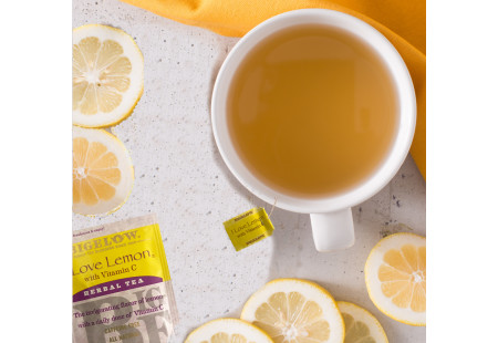Lifestyle image of a cup of I Love Lemon Herbal Tea