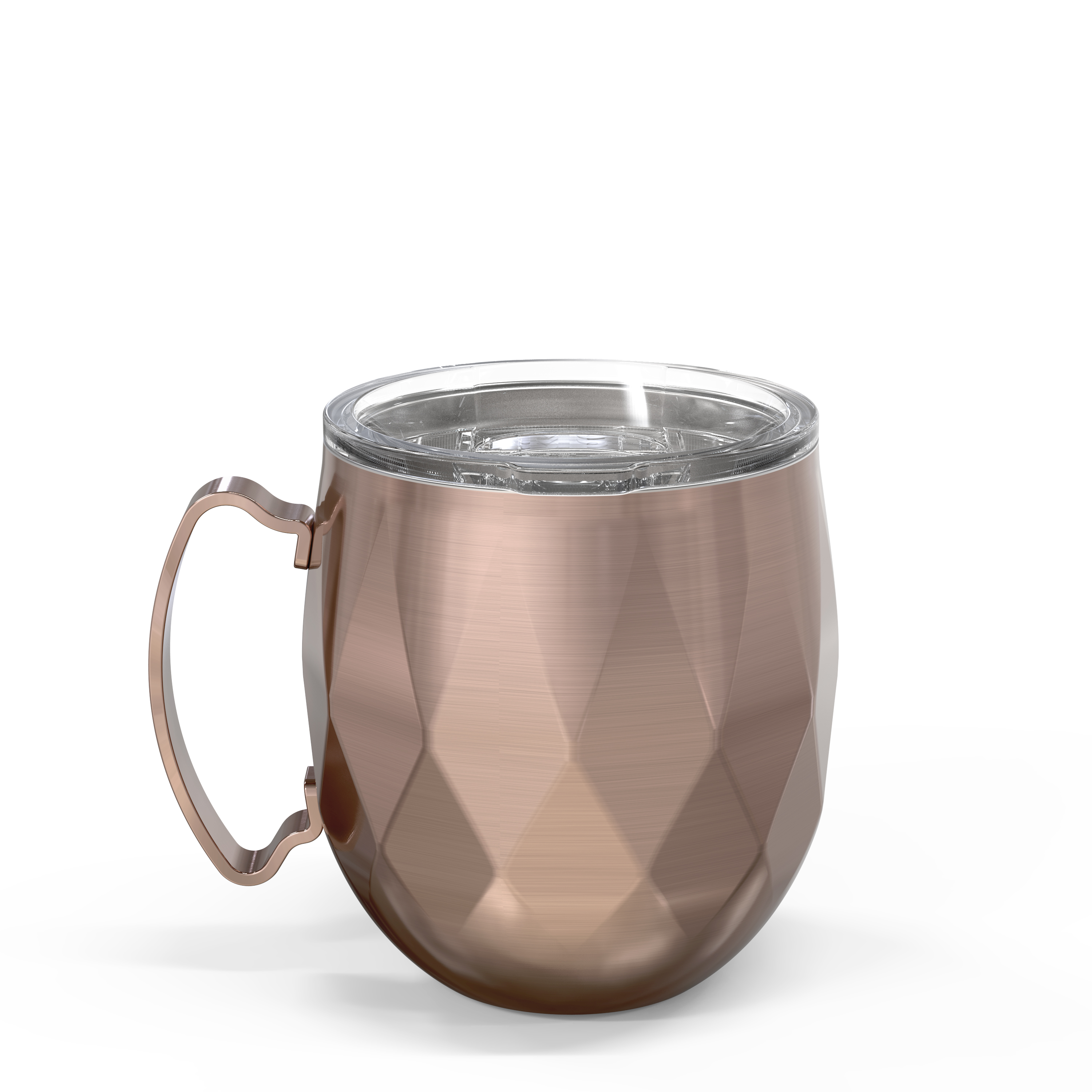 Fractal 19 ounce Vacuum Insulated Stainless Steel Mule Mug, Rose Gold slideshow image 5