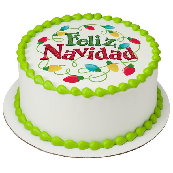 Playful Feliz Navidad PhotoCake® Edible Image®